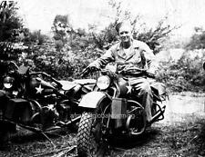 Photo. 1941-2. Man on Harley Davidson XA Motorcycle