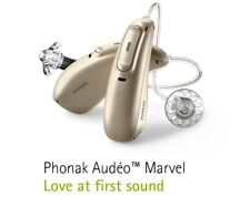 New Phonak Audeo Marvel M90-R Hearing Aids + TV Adapter + 5 Years of Warranty
