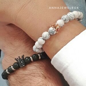 Cute Matching Relationship Promise Distance Couples Bracelets for Him and Her UK