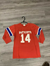 Vintage New England Patriots Long Sleeve Shirt 14 Women's Small NFL Rawlings