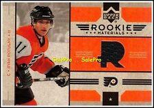 UPPER DECK 2006 RYAN POTULNY NHL RC PHILADELPHIA FLYERS ROOKIE GAME JERSEY #RMRP