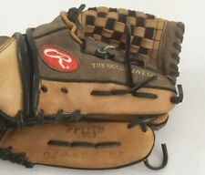 Rawlings 11 Inch Leather Brown Baseball Mitt Glove Right Hand