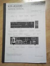 Kenwood Service Manual~KR-A5020 Receiver~Original Repair Book