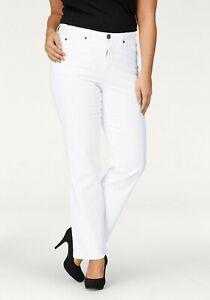 Damen Jeans Große Größen Weiße Hose Normaler Bund Jeanshose