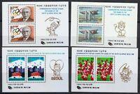 Korea 1988 MNH Mi Block 546-549 Sc 1511a-1514a Seoul 1988 Olympic Games **