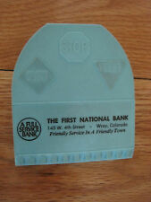 "Plastic Clip First National Bank Wray Colorado 3.5""x4"""