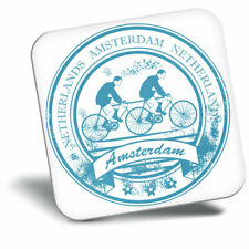 Awesome Fridge Magnet - Amsterdam Netherlands Travel Stamp Cool Gift #5953