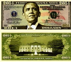 President Barack Obama Presidential 2014 Federal Obama Novelty Money