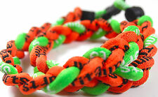 "Sale 20"" 3 Rope Twist Titanium Sport Necklace Orange Neon Green Lime Tornado New"