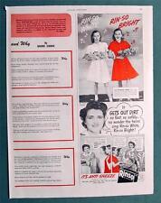 Original 1946 Rinso Non Celebrity Endorsement Ad COOKE TWINS OF SUNNYSIDE LI, NY