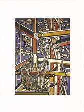 Postcard Fernand Leger The Builders 1950 Musee National Fernand Leger, Biot MINT