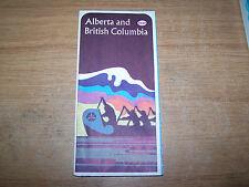ESSO OIL COMPANY ROAD MAP OF ALBERTA, BRITISH COLUMBIA CANADA 1966