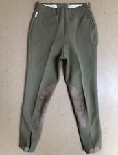 The Tailored Sportsman Suede Knee Patch Riding Show Breeches Khaki Tan Green 26