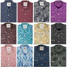 Relco Mens Paisley Long Sleeve Shirt Button Down Collar Mod Retro Mod Retro 60s