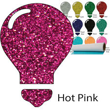 "Color Theory Glitter Heat Transfer Vinyl HTV Tshirts Garments, 20"" x 5yd Roll"