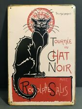 COMBINATION BROWN BLACK CAT TIDDLEDY WINKS METAL POSTER WALL PLAQUE RETRO STYLE
