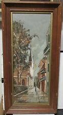 COLEMAN NEW ORLEANS JACKSON SQUARE ORIGINAL OIL BOARD STREET SCENE PANTING