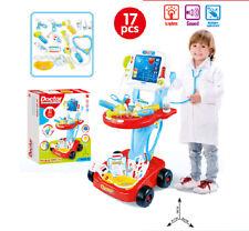 17 pièce enfants Médecins Infirmières Rôle Play Médical Chariot Lumière Sons Jouet 520