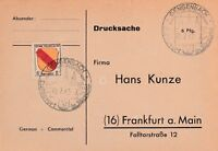 Postkarte Alliierte Besetzung 1947 Zone Francaise Gengenbach n. Frankfurt
