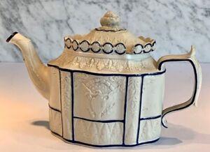 Antique American Eagle Castleton Feldspathic Sliding Lid Teapot c. 1790-1810