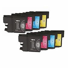 SET 8 Tintas compatibles IMPRESORA NONOEM LC980 DCP-375CW DCP375CW DCP 375CW