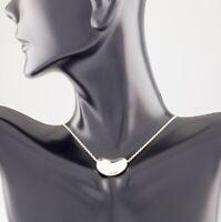 """Tiffany & Co. Sterling Silver Elsa Peretti Bean Pendant w/ 18"""" Chain"""