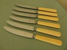 Nouvelle annonce Vintage 3 (pas 6) Firth ivorine effet Sheffield Plaque Latérale/couteau à desser...