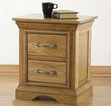 Lourdes solid oak furniture two drawer bedside cabinet stand unit