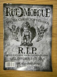 RUE MORGUE MAGAZINE COLLECTOR'S EDITION ISSUES 1-3 2005 VF HORROR IN CULTURE