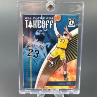 Lebron James DONRUSS OPTIC CLEAR FOR TAKE OFF LAKERS PRIZM - INVESTMENT - MINT
