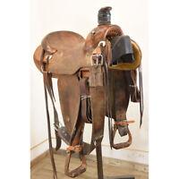 """Used 15"""" Steve Stikes Ranch Saddle Code: U15SSIKESRANRO"""