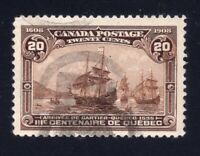 Canada Sc #103 (1908) 20c Brown Quebec Tercentenary Used