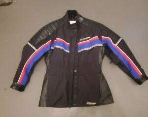 woman's size medium leather and nylon Polaris genuine quality snowmobile jacket