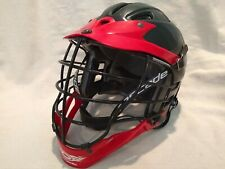 Cascade Cpx Black and Red Lacrosse Helmet Black Face Mask