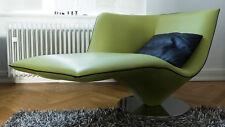 Designer Sessel Achilles von Artanova Loungechair Leder   grün   lime