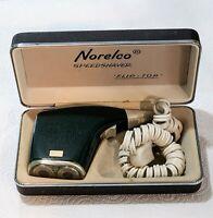Vintage Orig Norelco Flip-Top Speedshaver Electric Razor with Hard Case and Cord
