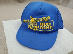 Vintage Bud Light Spuds MacKenzie Dog Snapback Hat Cap Mesh Back Trucker 80s