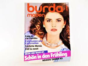 burda moden- März/1983 mit Schnittbögen, zzgl. Kommunions-, Konfirmationskleider