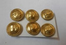 canadian pacific  six vintage shipping line buttons by firmin of london   1.5cm