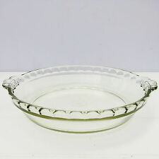 Vintage Retro Clear Glass Pyrex Oven Pie Dish