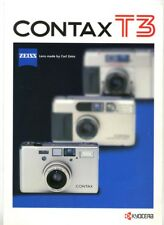 Contax T3 Compact Camera Sales Brochure. Other Catalogues & Leaflets Listed