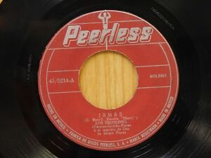 Los Tecolines 45 James bw Cancionero on Peerless latin Bolero