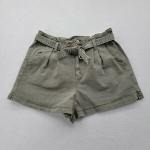 AMERICAN EAGLE highest rise mom short jean green belted pleated 14 NWT Stretch