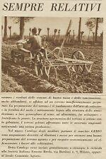 W3281 Preparazione terreno agricolo GEBIO - Pubblicità 1936 - Advertising
