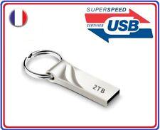 Clé usb 2 To metal porte clé 2096 Go transfert rapide lecteur flash drive 32 64