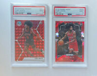 Coby White 2019-20 Panini Prizm Red Ice & Mosaic Red Rookie RC PSA 9 Mint Combo