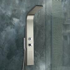Pannello doccia termostatico acciaio inox idromassaggio con doccetta minimale