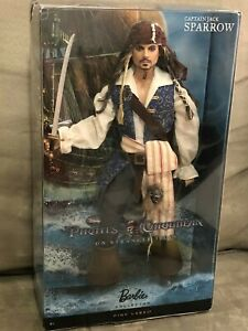 JACK SPARROW PIRATES OF THE CARIBBEAN BARBIE PINK LABEL-Please read