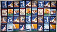 Nautical Sailboat Yacht Club Sailing Cotton Fabric Winham Sail Away 1.1 YARDS