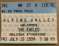 The Eagles Melissa Etheridge Ticket Stub Alpine Valley 7/15/94-1st $100 tix tour